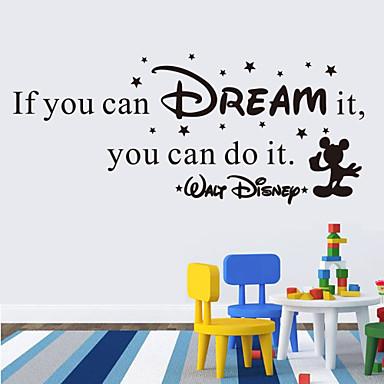 muurstickers muur stickers stijl als je het kunt dromen engels woorden& citeert pvc muurstickers