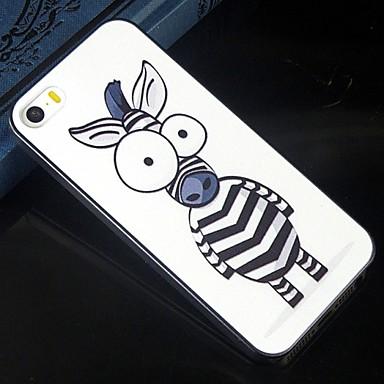 o tamanho do caso duro protetor dos desenhos animados olho padrão de zebra padrão de design para iphone 5c