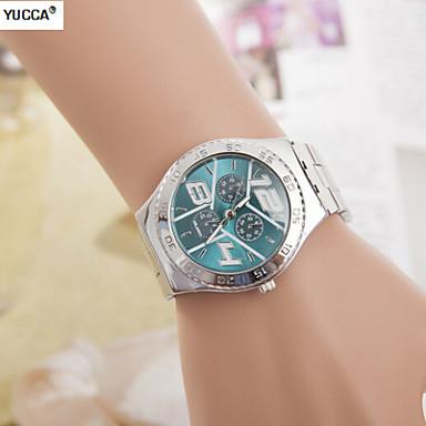 Heren Dress horloge Kwarts Zwitsers Designer Legering Band Zilver Wit Zwart Groen