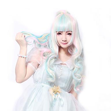Γυναικείο Συνθετικές Περούκες Σγουρά Ροζ Lolita Wig Περούκες μεταμφιέσεων