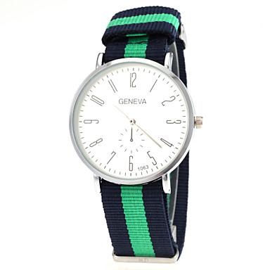 זול שעוני גברים-בגדי ריקוד גברים שעון יד קווארץ ניילון צבעוני מכירה חמה אנלוגי קסם קלסי אריסטו פשוט לצפות - אדום כחול אדום /  לבן לבן /  ירוק שנה אחת חיי סוללה / SSUO LR626