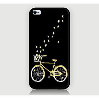a capa traseira do caso do padrão da bicicleta para iphone4 / 4s caso do iphone