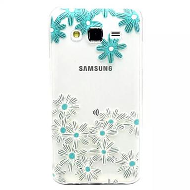 hoesje Voor Samsung Galaxy Samsung Galaxy hoesje Transparant Reliëfopdruk Achterkantje Bloem TPU voor J7 J5