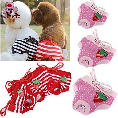 Kat Hond Broeken Hondenkleding Polka dot Strik Rood Roze Katoen Kostuum Voor huisdieren Cosplay Bruiloft