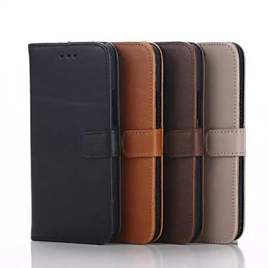 Voor HTC hoesje Hoesje cover Kaarthouder Portemonnee met standaard Flip Volledige behuizing hoesje Effen Kleur Hard PU-leer voor HTC Other