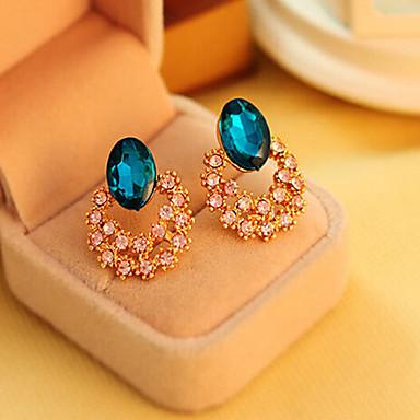 Dames Schattig Kristal Kubieke Zirkonia Gesimuleerde diamant - Luxe Vintage Feest Goud oorbellen Voor Dagelijks