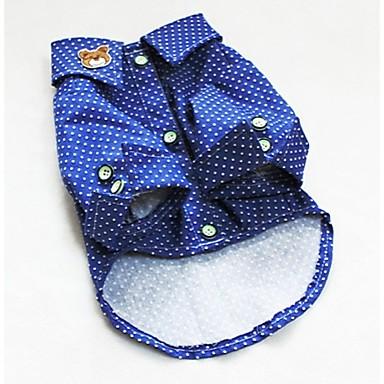 Cachorro Camiseta Roupas para Cães Fashion Poá Azul Ocasiões Especiais Para animais de estimação
