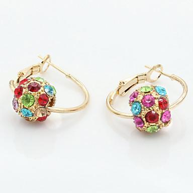 Γυναικεία Κουμπωτά Σκουλαρίκια Κρύσταλλο Στρας Κράμα Κοσμήματα Γάμου Καθημερινά