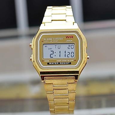 Недорогие Часы на металлическом ремешке-Муж. Наручные часы Кварцевый Нержавеющая сталь Серебристый металл / Золотистый Цифровой На каждый день - Серебряный Золотой