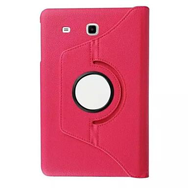 360 roterende litchi huid lederen case cover voor Samsung Galaxy Tab 9.6 e T560 / t561 tablet beschermhoes (aorted kleur)