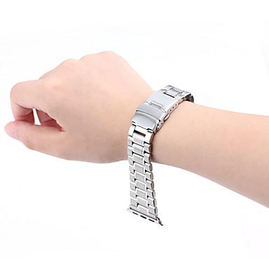 Faixa de relógio para Apple Watch 42 mm metal aço inoxidável fivela de borboleta faixa de substituição