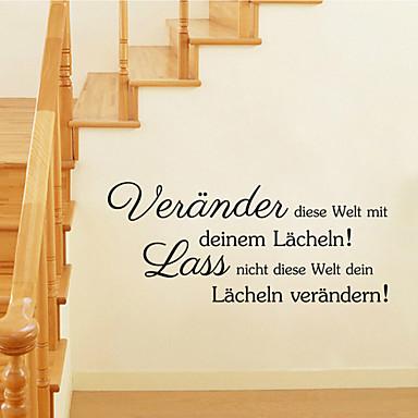 τοίχο αυτοκόλλητα τοίχου στυλ αυτοκόλλητα γερμανικές λέξεις&αναφέρει αυτοκόλλητα PVC τοίχο