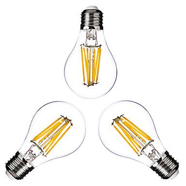 ONDENN 3pcs 2800-3200 lm E26/E27 LED Λάμπες Πυράκτωσης G60 6 leds COB Με ροοστάτη Θερμό Λευκό AC 110-130V AC 220-240V