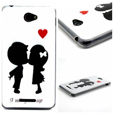 αγαπούν ο ένας τον άλλον πρότυπο tpu τηλέφωνο περίπτωση για Sony e4 περιπτώσεις / καλύπτει για Sony
