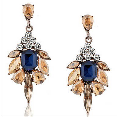 Γυναικεία Κρεμαστό Κρυστάλλινο Προσομειωμένο διαμάντι Κρεμαστά Σκουλαρίκια - Πολυτέλεια Μοντέρνα Ευρωπαϊκό Χρώμα Οθόνης Σκουλαρίκια Για