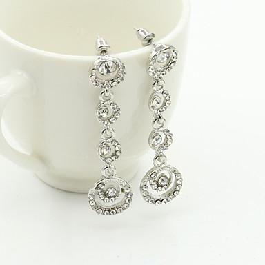 Dames Druppel oorbellen Kristal Modieus Europees Strass Verguld Oostenrijks kristal 18K goud Gesimuleerde diamant Sieraden Kostuum juwelen
