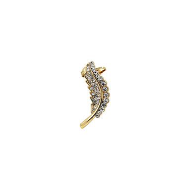 Dames Oor manchetten Luxe Strass Gesimuleerde diamant Legering Bladvorm Sieraden Bruiloft Feest Dagelijks Causaal Sport