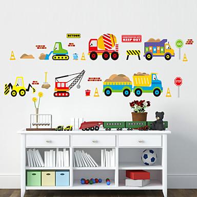 Σχήματα Κινούμενα σχέδια Μεταφορά Αυτοκολλητα ΤΟΙΧΟΥ Αεροπλάνα Αυτοκόλλητα Τοίχου Διακοσμητικά αυτοκόλλητα τοίχου, PVC Αρχική Διακόσμηση