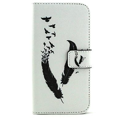 Para Samsung Galaxy Capinhas Porta-Cartão / Carteira / Com Suporte / Flip Capinha Corpo Inteiro Capinha Pena Couro PU SamsungS6 edge / S6