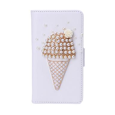 παγωτό κρέμα απομίμηση διαμαντιών pu δέρμα λευκό περίπτωση με τη στάση για τη Samsung πυρήνα προνομιακή g3608 και άλλα μοντέλα