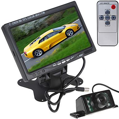 رخيصةأون المنبهات  و الامان-7 بوصة 800 × 480 لون السيارة للرؤية الخلفية شاشة LCD مع رصد HDMI + 7 أضواء الأشعة تحت الحمراء سيارة كاميرا الرؤية الخلفية