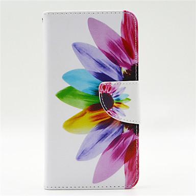 kleurrijke bloemblaadje patroon pu leahter full body case met kaartslot voor microsoft Lumia 640