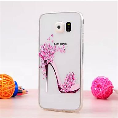 Para Samsung Galaxy Capinhas Com Strass / Transparente Capinha Capa Traseira Capinha Desenho 3D TPU Samsung S6