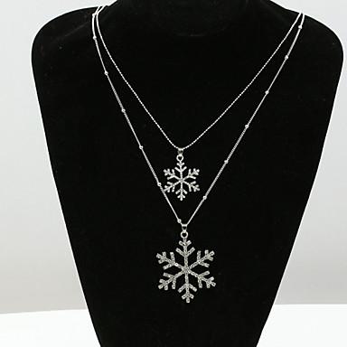 Feminino colares em camadas Cristal Strass imitação de diamante 18K ouro Áustria Cristal Moda Europeu Jóias Para
