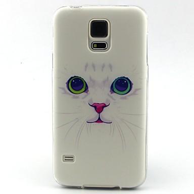 tok Για Samsung Galaxy Samsung Galaxy Θήκη Με σχέδια Πίσω Κάλυμμα Γάτα TPU για S5 Mini