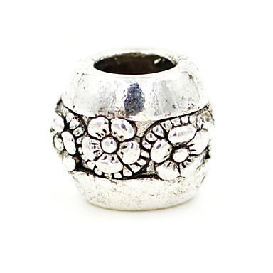 Beads DIY liga ameixa simples forma redonda grânulos grande buraco 10pcs