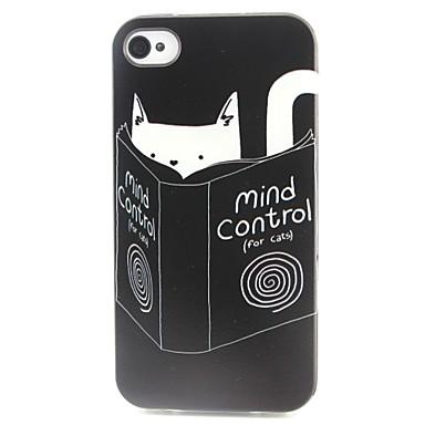 kitty patroon TPU materiaal soft phone case voor de iPhone 4 / 4s