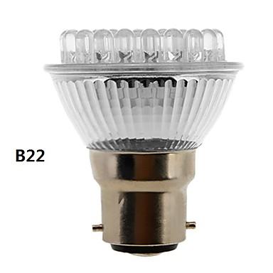 B22 E26/E27 Lâmpadas de Foco de LED 38 LED Dip 155 lm Branco Natural 6500K K AC 220-240 V