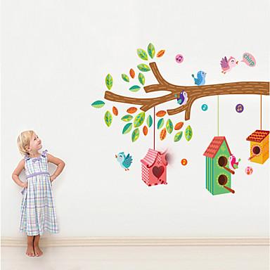 muurstickers nest pvc muurstickers muuroverdrukplaatjes stijl kleuren vogel