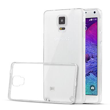 tok Για Samsung Galaxy Samsung Galaxy Note Διαφανής Πίσω Κάλυμμα Συμπαγές Χρώμα TPU για Note 4