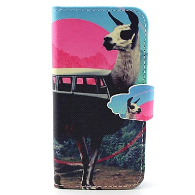 Para Samsung Galaxy Capinhas Porta-Cartão / Carteira / Com Suporte / Flip Capinha Corpo Inteiro Capinha Animal Couro PU SamsungS6 edge /