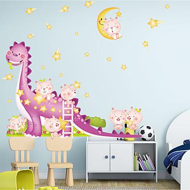 adesivos de parede do estilo adesivos de parede parede dinossauro dos desenhos animados adesivos pvc