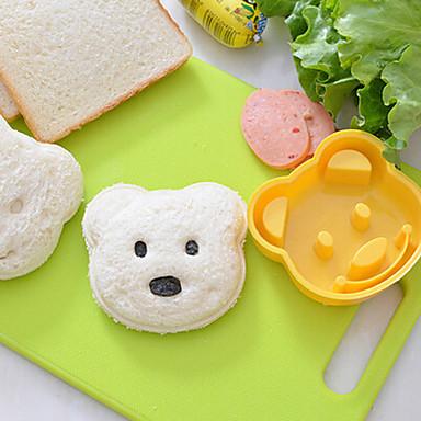 teddybeer vormige sandwich mes diy plastic sandwich snijden mold
