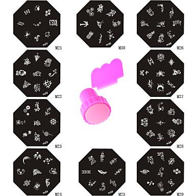 Abstract - Vinger - Nagelsieraden - Metaal - 11 - stuks 6*6*2.5 CM - ( cm )