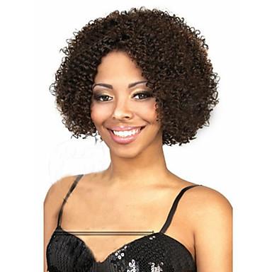 Vrouw Synthetische pruiken Zonder kap Middel Kinky Curly Zwart Kostuumpruiken