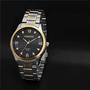 Masculino Relógio Elegante Quartzo Quartzo Japonês Impermeável Aço Inoxidável Banda Prata Branco Preto Dourado