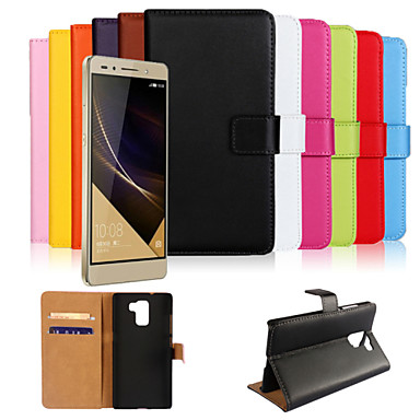 lederen portemonnee geval voor Huawei eer 7 (verschillende kleuren)
