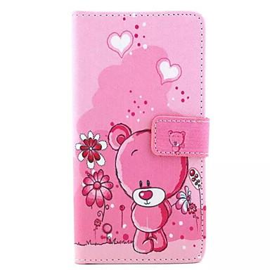 Filhotes de caso de telefone padrão de couro pu para Huawei p8