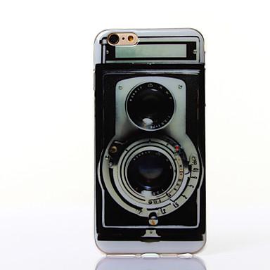 padrão de câmera TPU suave para 6s iphone plus / 6 mais