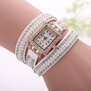 Xu™ Dames Armbandhorloge Modieus horloge Kwarts Vrijetijdshorloge Stof Band Bohémien Parels Zwart Wit Blauw Zilver Bruin Roze Paars Beige