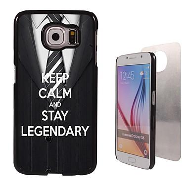 Voor Samsung Galaxy hoesje Hoesje cover Patroon Achterkantje hoesje Woord / tekst PC voor Samsung S6 edge