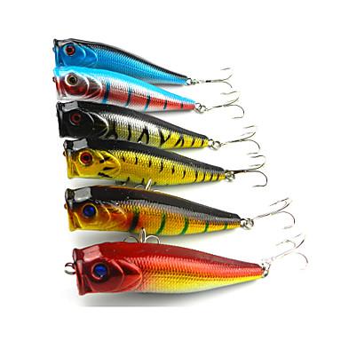 6 pçs Popper de Pesca Iscas Popper de Pesca g / 1/2 onça/ pc, 90mm mm / 3-1/2