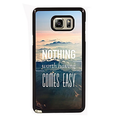 Voor Samsung Galaxy Note Hoesje cover Patroon Achterkantje hoesje Woord / tekst PC voor Samsung Note 5 Edge Note 5 Note 4 Note 3