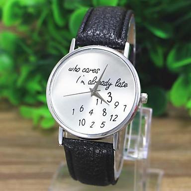 Damen Armbanduhr Quartz Weltkarte Muster PU Band Analog Freizeit Modisch Uhr mit Wörtern Schwarz / Weiß / Grün - Weiß Schwarz Grün