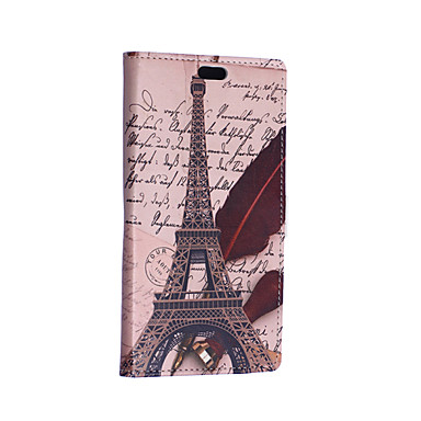 Para Capinhas Asus Carteira / Porta-Cartão / Com Suporte / Flip / Estampada Capinha Corpo Inteiro Capinha Torre Eiffel Rígida Couro PU