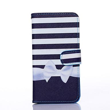 Voor Samsung Galaxy hoesje Kaarthouder / Portemonnee / met standaard / Flip hoesje Volledige behuizing hoesje Lijnen / golven PU-leer